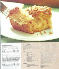 Pear Ginger Coffee Cake (L)
