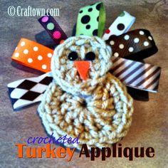 Free Crochet Pattern - Turkey Applique #craftown #crochet #freepattern