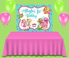 This item is unavailable Birthday Backdrop, Birthday Cake, Custom Backdrops, Shopkins, Etsy Shop, Unique Jewelry, Handmade Gifts, Check, Kid Craft Gifts
