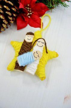 DIY Garn eingewickelte Krippe Weihnachtsverzierung, #eingewickelte #krippe #weihnachtsverzierung