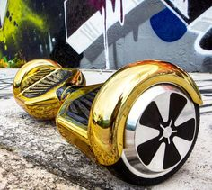 Rover HoVerboard 8'' w/ Free Bluetooth Upgrade- Limited Edition - Midas Touch GOLD (chrome
