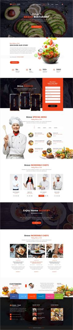 Bravo is a multipurpose #PSD #theme with awesome collection of 8 niches #Restaurant, Business, Consultancy, SEO, Construction, Architecture, SPA, Fashion Shop website with 66 organized PSD pages download now➩ https://themeforest.net/item/bravo-multipurpose-psd-template/17361644?ref=Datasata