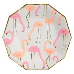 pretty flamingo print paper plates by Meri-Meri at www.pinksandgreen.co.uk with 20% discount code available too.