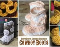 Free Crochet Cowboy Boots for Baby