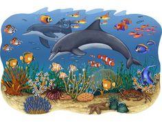 murals of ocean animals | ... ocean mural ocean wall stickers sea mural seascape mural posted in