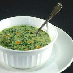 Creamy Spinach Soup...