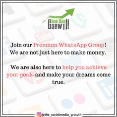 """We are not just here to make money. We are also here to help you achieve your goals and make your dreams come true. ✅ We created a Premium WhatsApp Group where all our customers can join. 📲 Every user who joins the group will be added to the list. 🔝 Use this coupon code """"PINFREE$1"""" at checkout to receive a Free Trial! Coupon can be applied only once. Perfect Image, Perfect Photo, Love Photos, Cool Pictures, Whatsapp Group, Dreaming Of You, How To Make Money, Thats Not My, Coupon"""