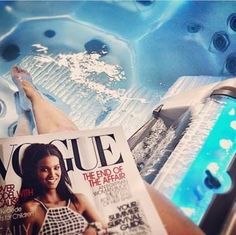 Spa Essentials - Vogue and Tranquility Fall in our Island Spa today. Spa Accessories, Fiji Water Bottle, Essentials, Vogue, Island, Drinks, Fall, Drinking, Autumn