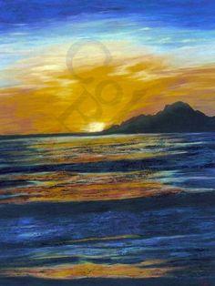 Sunset Blue Ripples - by Colour Bliss http://pr-nt.me/sunset-blue-ripples-by-colour-bliss #abstract #art #seascape #sunset