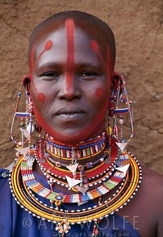 Africa   Portrait of a Maasai woman, Kenya   © Art Wolfe.