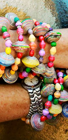 Bright Spring Colors | Handmade from Recycled materials in Haiti | Papillon Enterprise