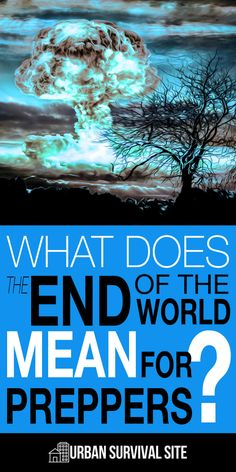 """When preppers say, """"the end of the world,"""" they're also referring to the end of their world. The end of their lives as they have been. The food and supplies they stored for major disasters can also be used to help them weather financial disasters. #preppers #endoftheworld #teotwawki #shtf #survival"""