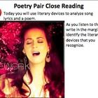 Get your students engaged in close, analytical reading by pairing up poems and popular songs!  Included in this poetry pair...  -Powerpoint lesson ...