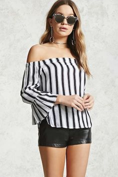 Forever 21 is the authority on fashion & the go-to retailer for the latest trends, styles & the hottest deals. Shop dresses, tops, tees, leggings & more! Shop Forever, Forever 21, Zara, Striped Knit, Blouse Styles, Red Stripes, Off The Shoulder, Shoulder Tops, Blouses For Women