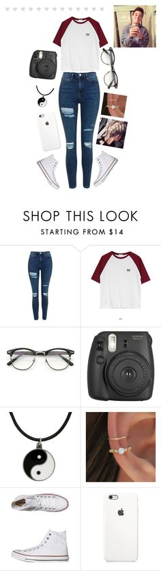 """""""Hanging with gray """" by sammy-dale ❤ liked on Polyvore featuring Topshop, ZeroUV, Fujifilm, Carolina Glamour Collection, Converse, graysondolan, dolantwins and ethandolan"""