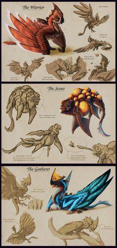 Creature Art. Hive Creatures
