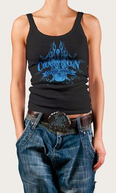 """This is """"Country Rockin' Country Junkie"""" tank. The price is $19.95 and only from http://www.countryjunkienation.com"""