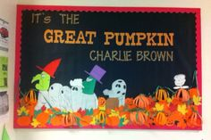 It's the Great Pumpkin Charlie Brown bulletin board