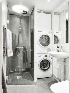 123 Interesting And Detailed Tiny House Bathroom Shower Design Ideas Laundry Bathroom Combo, Laundry Room Storage, Tiny House Bathroom, Downstairs Bathroom, Bathroom Layout, Bathroom Small, Bathroom Ideas, Bathroom Showers, Tiny House Shower