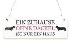 Vintage Schild EIN ZUHAUSE OHNE DACKEL Shabby von Interluxe via dawanda.com