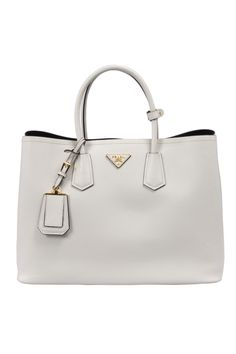 4d5921cc7 Prada - Saffiano Leather Tote in White Carteras De Cuero, Bolsos Cartera,  Tips De