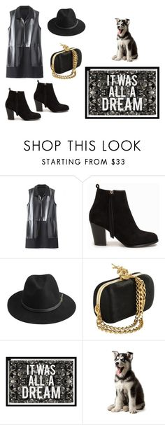 """Untitled #20"" by fashionpolicecimrn80 on Polyvore featuring Nly Shoes, BeckSöndergaard, Oliver Gal Artist Co. and black"