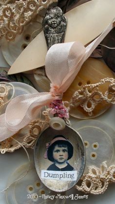 Altered Spoon. ooh, ohh, i still have my children's spoons. i could put their baby pics in them!