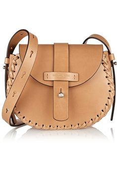 Michael Kors | Claire whipstitched leather shoulder bag | NET-A-PORTER.COM