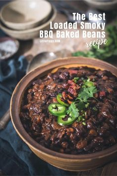 Try this incredibly flavored loaded and smoky BBQ Baked Beans recipe! Perfect for summer entertaining, cookouts, BBQs, or any time of year. Slow-cooked for perfection and leftovers are ideal for a tasty beans and toast breakfast. Get the recipe at Little Figgy Food! #recipes #bbq #beans #bakedbeans #slowcooked #cookouts #sides #bacon #smokehouse #smoky Bbq Baked Beans, Bbq Beans, Baked Bean Recipes, Healthy Recipes, How To Make Bbq, Beans On Toast, Bbq Sandwich, Smoked Bacon, Recipe Community