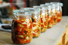 Learn how to make Kimchi. The basic kimchi recipe has a long history as a Korean staple for almost every meal. Try this easy kimchi recipe by Chef Jovan Bester Korean Food Kimchi, Improve Gut Health, Kimchi Recipe, Korean Dishes, Napa Cabbage, Juicing For Health, Fermented Foods, Fermented Cabbage, Pickled Cabbage
