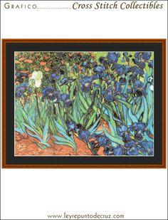 Die Iris - Van Gogh by Cross Stitch Collectibles at Leyreideas.com