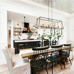 cool 56 Cozy Modern Farmhouse Dining Room Remodel Ideas https://decoralink.com/2018/03/13/56-cozy-modern-farmhouse-dining-room-remodel-ideas/