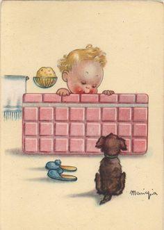 MARIAPIA Bambina e Cane | eBay