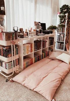 Inspirational ideas about Interior, Interior Design and Home Decorating Style for Living Room, Bedroom, Kitchen and the entire home. Curated selection of home decor products. Dream Rooms, Dream Bedroom, Master Bedroom, Room Ideas Bedroom, Bedroom Decor, Study Room Decor, Bedroom Signs, Bookshelf Design, Bookshelves
