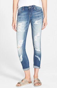 Vigoss 'Tomboy' Destroyed Skinny Jeans (Medium) available at #Nordstrom #Summer #MediumWash