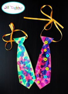 painted ties to hang up for dads