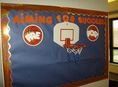 I like this sports-themed idea for the classroom.  Click on the image to find a website with a lot of bulletin board ideas for your classroom.