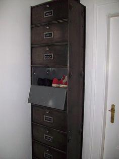 Fransk arkivskab,skoskab,fil de fer,