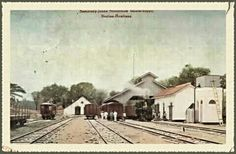 Semarang Joana Stoomtram (SJS) Maatschappij : Station Rembang circa 1920.