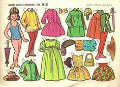 Todo muñecas: Láminas recortables Horas me pasaba jugando con estas muñecas Más Preschool Crafts, Fun Crafts, Paper Crafts, Reference Paper, Photo Reference, Paper Doll House, Paper Dolls Printable, All Paper, Vintage Paper Dolls