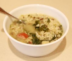 ... Sausage, Wild Rice and Kale Soup ( It's Still Winter - Soups on