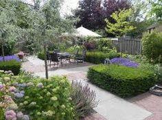 tuinontwerp kleine tuin - Google zoeken Inside Pool, Dream Garden, Outdoor Gardens, Garden Design, Sidewalk, Landscape, Patio, Plants, Inspiration