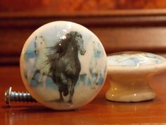 Dynastyprints Pair Dresser Knobs Running Horses by dynastyprints, $4.98