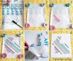All you need is a design, contact paper, and washi tape!
