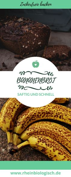 Zuckerfrei, vegan und super saftig. Dieses Rezept ist ein absolutes muss für alle Bananenbrotfans. #zuckerfrei #ohnezucker #vegan #bananenbrot #backen #zuckerfreibacken #veganbacken