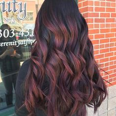 Red wine balayage #hairpost #behindthechair #btcpics #modernsalon #americansalon #denverhair #denverhairstylist #hairpainting #balayage #ombre #sombre #redken #redkencolor #styleyourstory #hotonbeauty #denver #hairtrend #hotd #instahair #stylistshopconnect #livedinhair #blended #coloradohairstylist