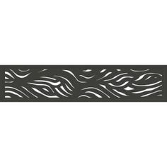 Modinex 6 ft. x 3 ft. Charcoal Gray Decorative Composite Fence Panel Featured in Panama Design-USAMOD5C - The Home Depot Decorative Fence Panels, Garden Fence Panels, Composite Fencing, Tiki Bar Decor, Privacy Panels, Backyard Paradise, Landscaping Supplies, Frame Stand, Wave Design