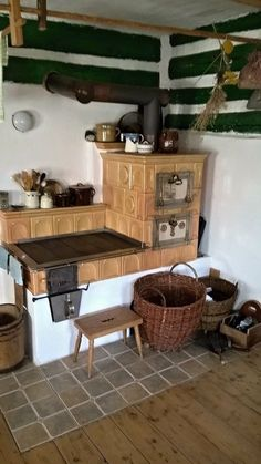Earth Bag Homes, Kitchen Design, Kitchen Decor, Build Your House, Kitchen Stove, Home Upgrades, House In The Woods, Rustic Decor, Interior Decorating