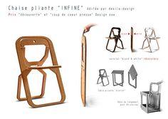 Afbeeldingsresultaat voor desile folding chair black white