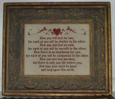 Personalize Handmade Wedding Blessing Gift Apache by WiseOldeOwl, $32.00